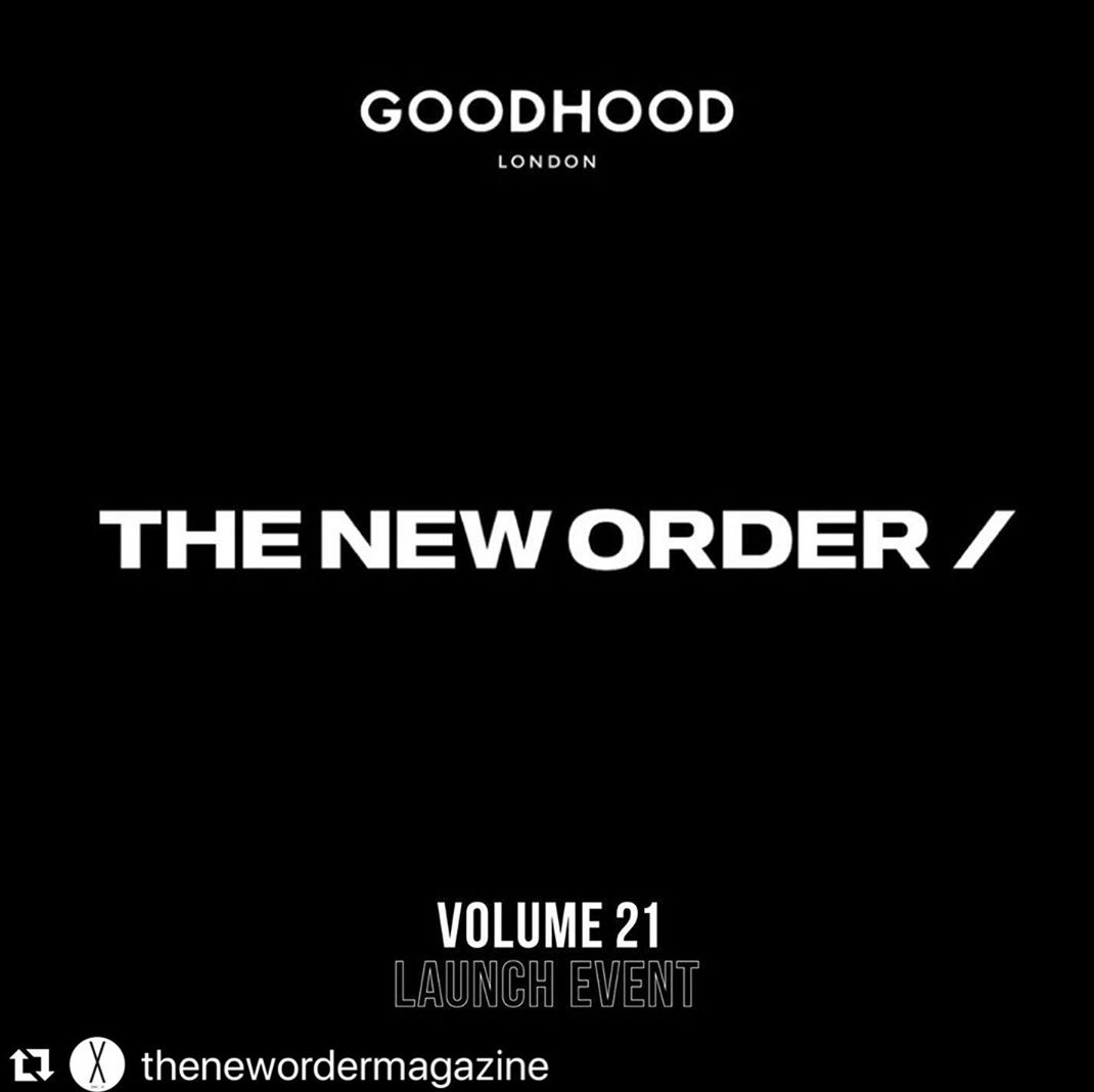 "I will be DJing tonight at top store GOODHOOD tonight with my family from Japan THE NEW ORDER MAGAZINE. THE NEW ORDER ""A NEW DECADE"" ISSUE LONDON LAUNCH JULY 18 WITH GOODHOOD 151 curtain road hackney"