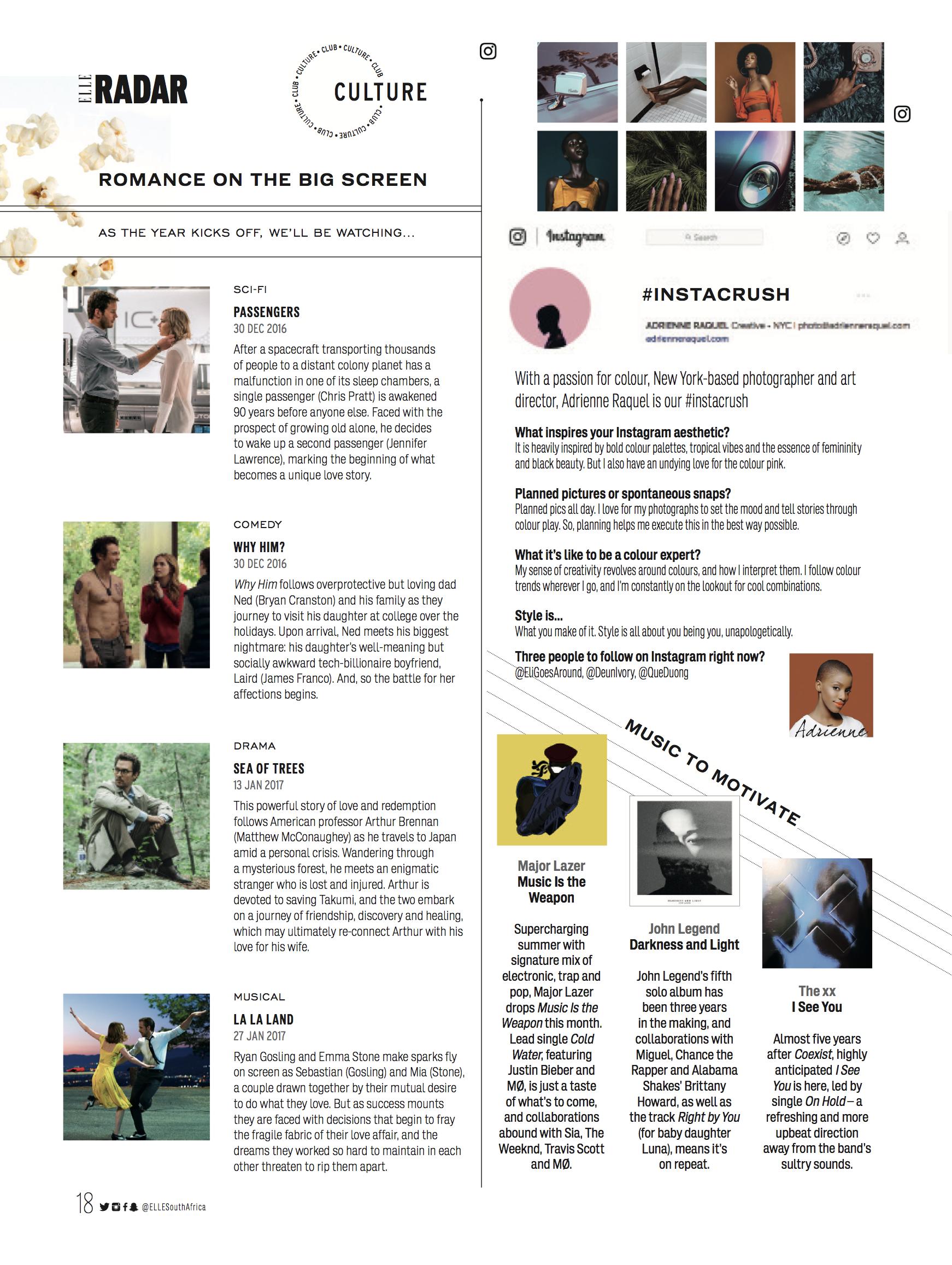 Elle SA Press Feature