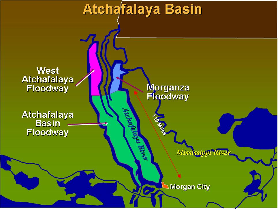 Atchafalaya Basin Floodway System    Atchafalaya Basin  . Digital image.   US Army Corps of Engineers New Orleans District  . US Army Corps of Engineers, n.d. Web.