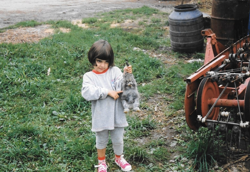 Sara in Novigrad, Croatia as a kid.