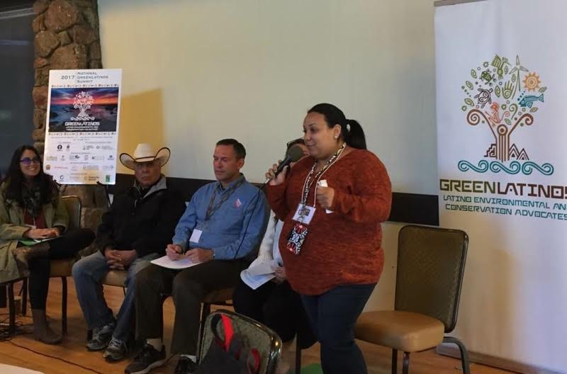 Karina addresses the 2017 GreenLatinos Summit in Monterey, California. Photo: Karin Quimby, Moms Clean Air Force.