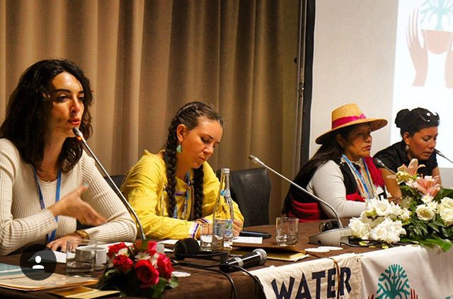 Kayla speaking on a Women's Earth & Climate Network (WECAN) panel in Morocco.