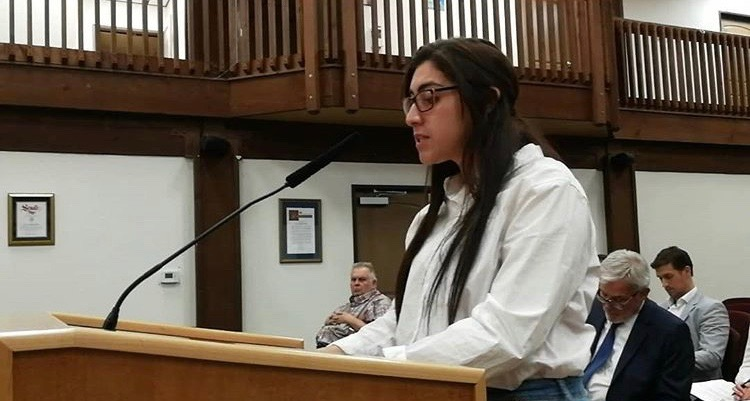 Dania giving her public comment at the Planning Commission Meeting in October 2018.