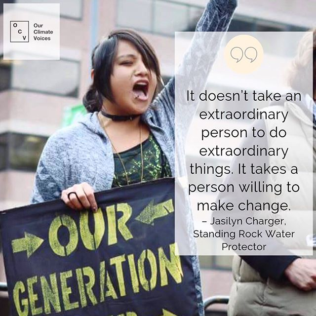 """❕NEW❕The courageous 23-year-old Jasilyn Charger launched a movement when she founded the International Indigenous Youth Council to bring attention to the injustices police were committing at Standing Rock. Jasilyn coordinated a 2,000-mile run from her home to Washington D.C. to raise awareness to the rest of the country. In our most recent piece, Jasilyn speaks about growing up knowing that she was an environmental protector from a young age; the importance of connecting to our past through the land; and the discrimination she's faced as a young woman activist and how she hasn't let it deter her from fighting for the land, the water, and the mountains. * She stands in solidarity with other environmental protectors. She says, """"Whether in South America, in Sweden, in Hawai'i, in Palestine, in Panama, in the Amazon, we are all fighting the same thing together. We are all on the same line. I stand with my relatives for Mauna Kea. Aloha aina."""" We stand with her."""