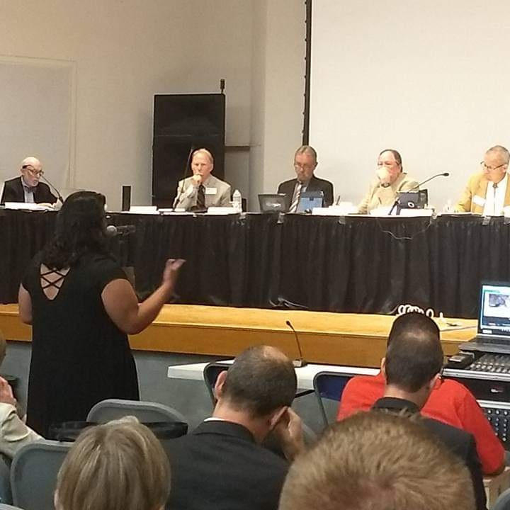 Patricia testifying at the Colorado Oil & Gas Conservation Commission hearing in Greeley, Colorado.