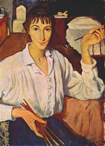 Self-portrait  Zinaida Serebriakova, 1921