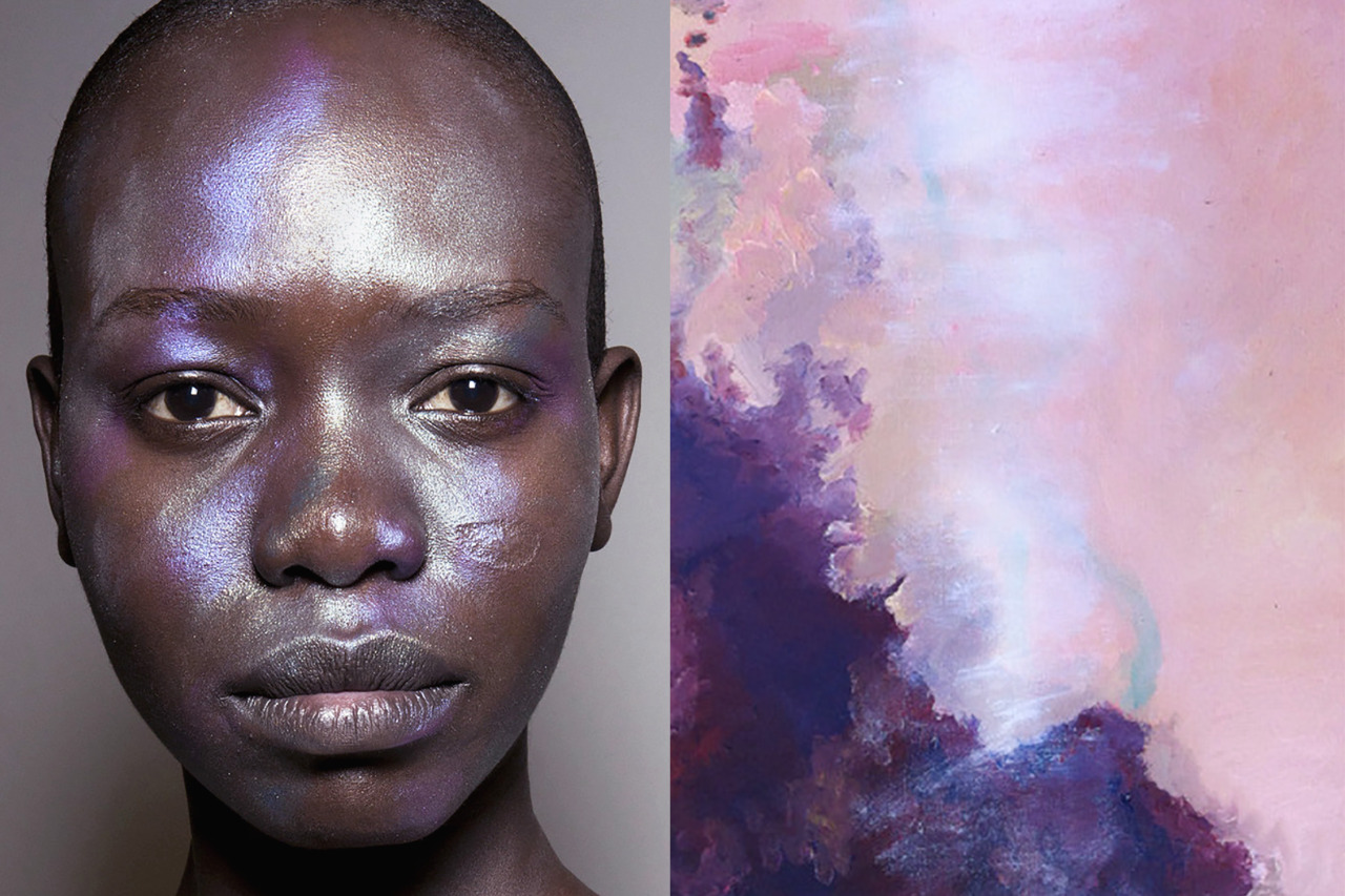 Match #328 Makeup at Vivienne Westwood Red Label Spring 2016 | Painting by unknown