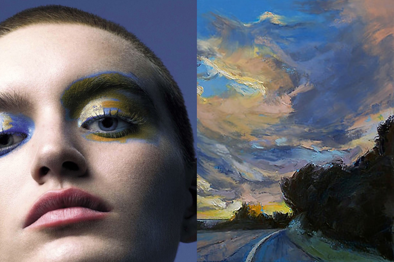 Match #297 Soekie Bennebroek photographed by Mert Alas & Marcus Piggott for Vogue Italia October 2015 | The Road to Sunset Beach (detail) by MICHAEL CREESE