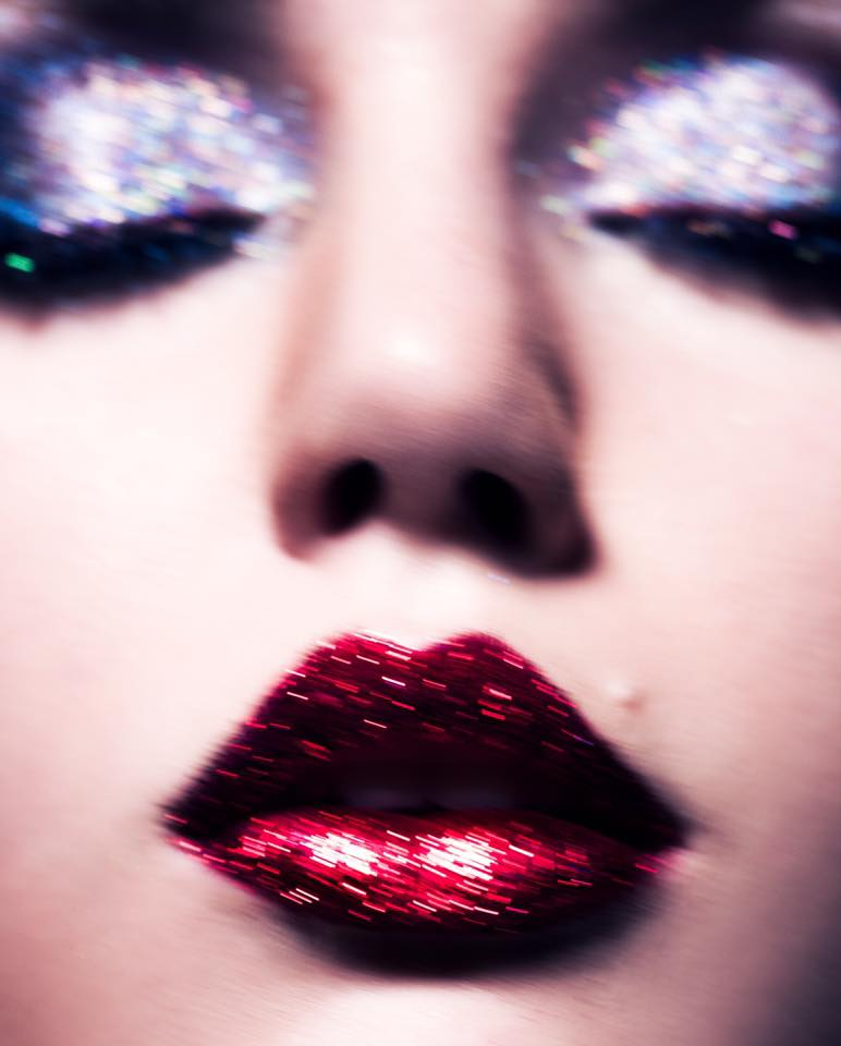 """Probably my recent glitter shoot... I just love that it breaks the rules it's technically out of focused, blurred, overexposed, and not a """"correct color balance... but it was all done with intent and I like images that's are not """"technically"""" correct per say but still work. Plus I felt the idea fit the type of makeup and make it look it's best. - Steven Turner"""