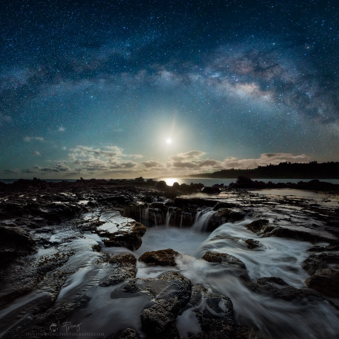This is a personal favorite bc it represents the growth and refinement of my own post processing techniques this year. (At the beginning of the year I didn't know how to put it together). It is also special because the alignment of the moon and milky way along with the weather and wave conditions is unique and serendipitous. - Dustin Wong
