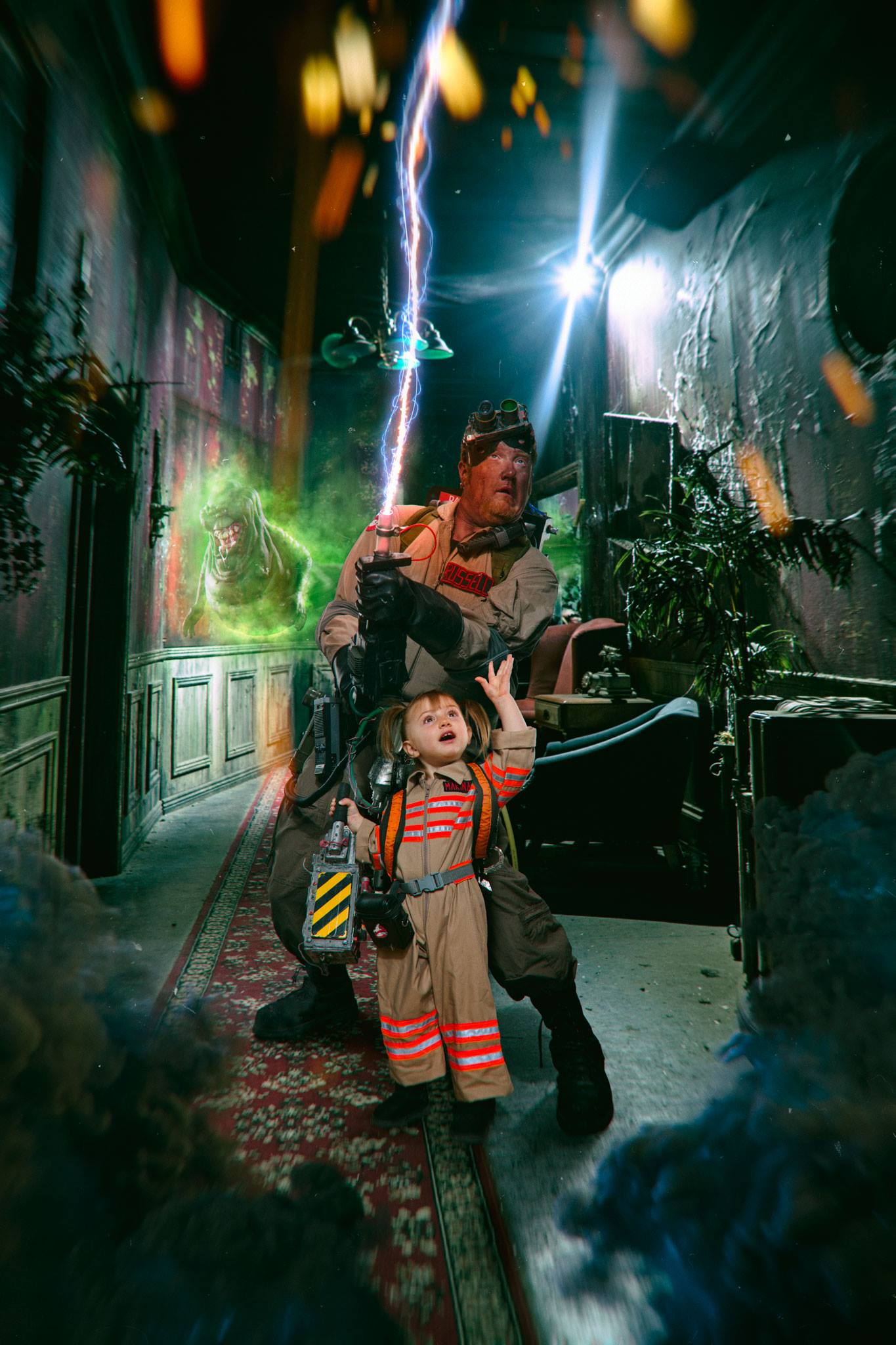 This is probably my favorite image of 2016 due to the fact that it meant the world to him to finally become real ghostbusters with his daughter! - Terrence W. Blanton