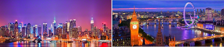 New York City   London