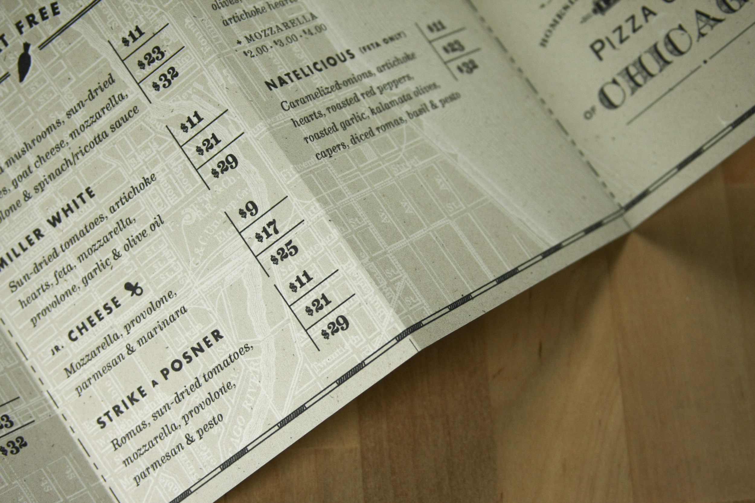 Homeslice Pizza Menu Design