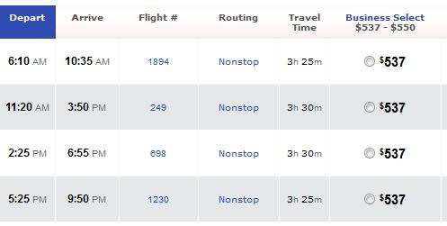 Here's a route from DAL to LGA for $537.