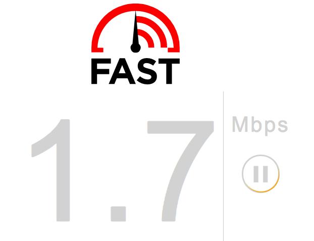 Macbook Speed Via Fast.com