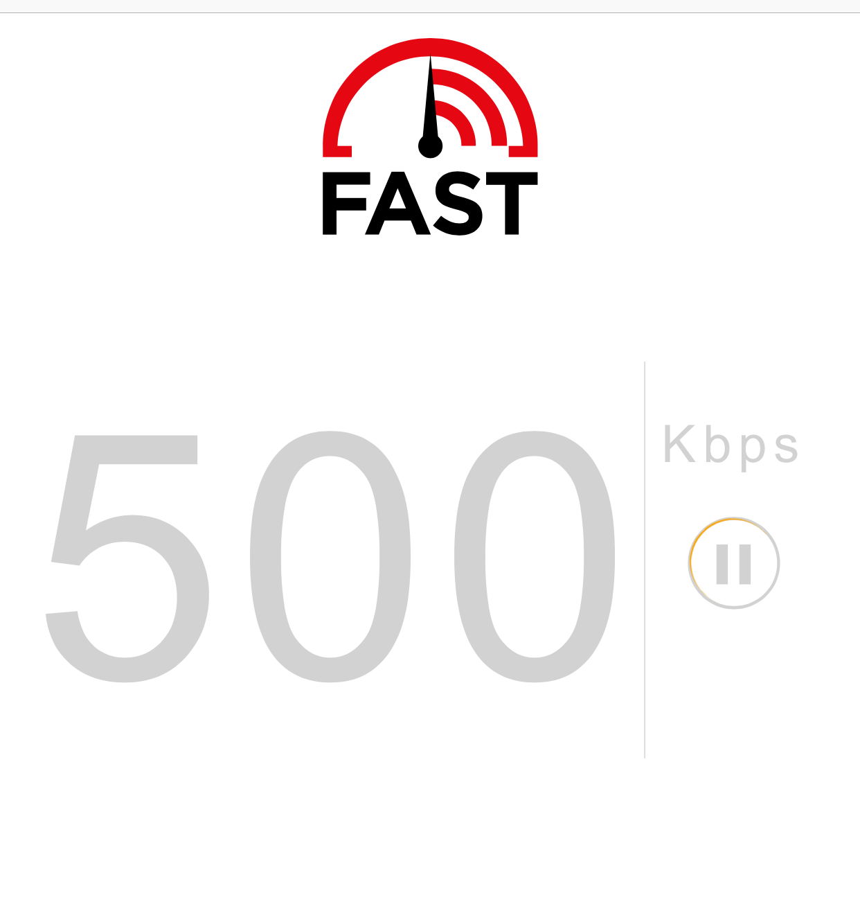 iPhone Speed Via Fast.com