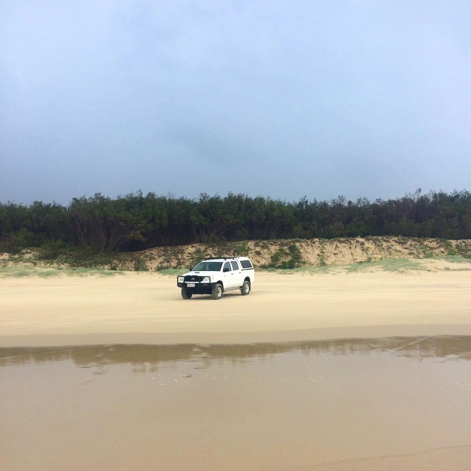 Neil's badass beach truck