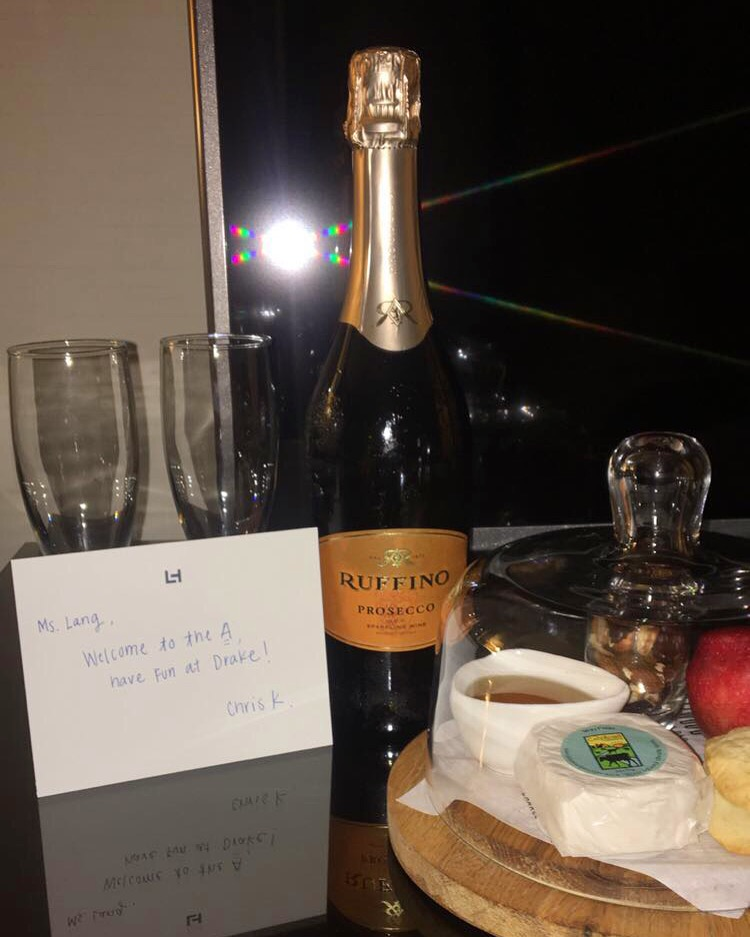 Our welcome amenities ... thank you Chris <3