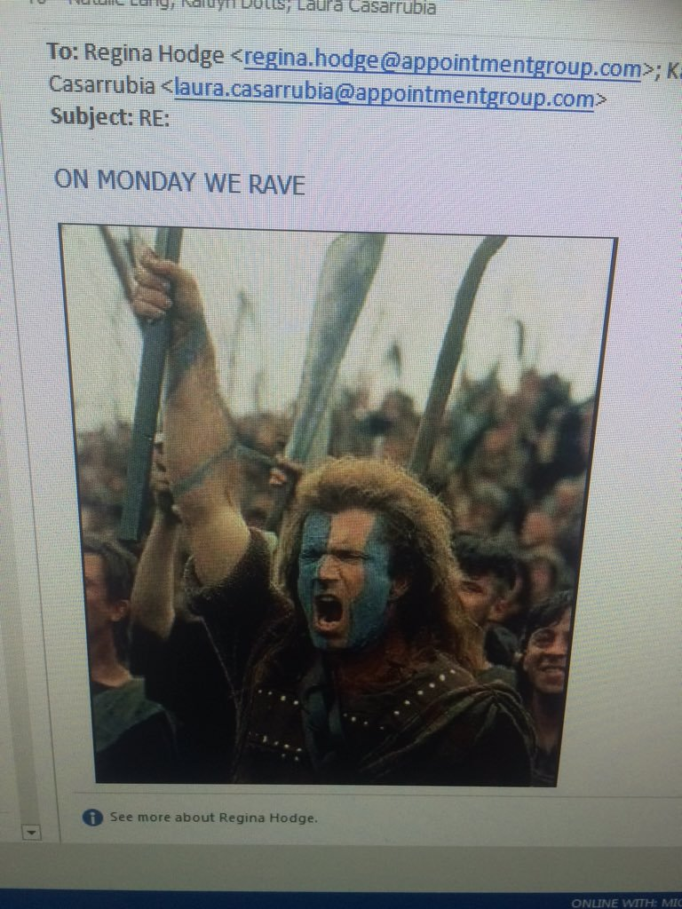 standard office emails about battling over the office pandora station