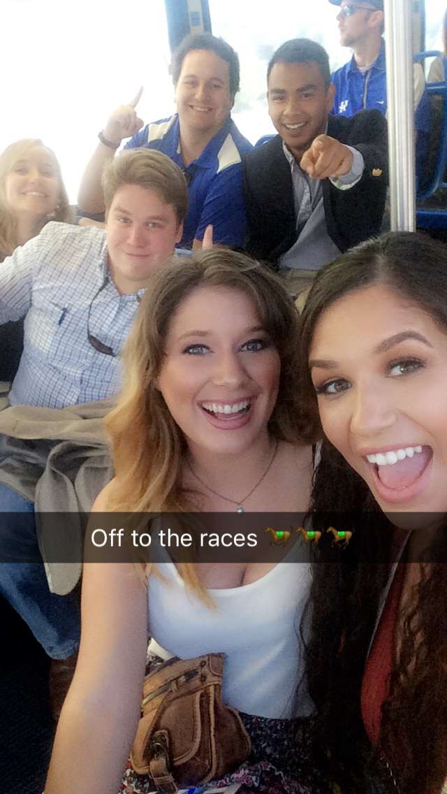 We took a shuttle from campus to the horse park for $1 each way. Squad hard.