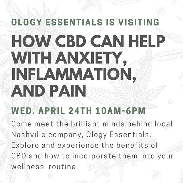Curious about how #CBD can help you?? Now is your chance to learn about all of the amazing ways you can incorporate CBD oil into your wellness routine. @ology_essentials will be hanging out at Osho tomorrow! We are so excited to host these #local nashville ladies!  #sustainable . . . . . #cbdnashville #cbdoil #cbdbeauty #cbdoilbenefits #nashvillecbd #ology_essentials #cbdbeautymovement #cbdbeautyproducts #cbdbeautytakeover #cbdforbeauty #cbdoilbeauty