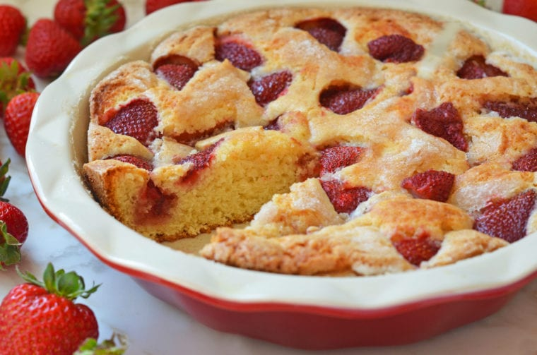 Simple Summer Strawberry Cake - 200+ 5 Star Reviews Can't be Wrong…especially with strawberries involved.