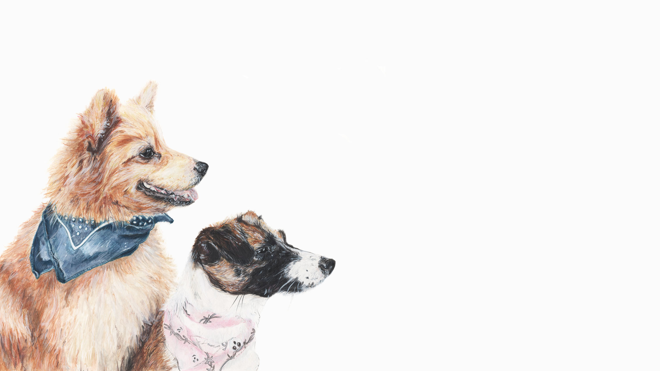 Ted, the German Spitz and Tink the Terrier