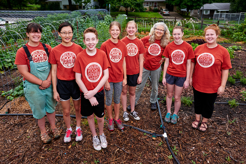 Our 2015 Growing Food Growing Health Student Gardeners with The Merc Co+op's Education and Outreach Department.