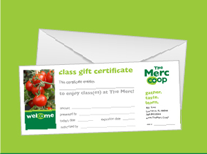 Class Gift Certificates   Purchase class certificates  online  or in store. Class gift certificates can be purchased at any amount.