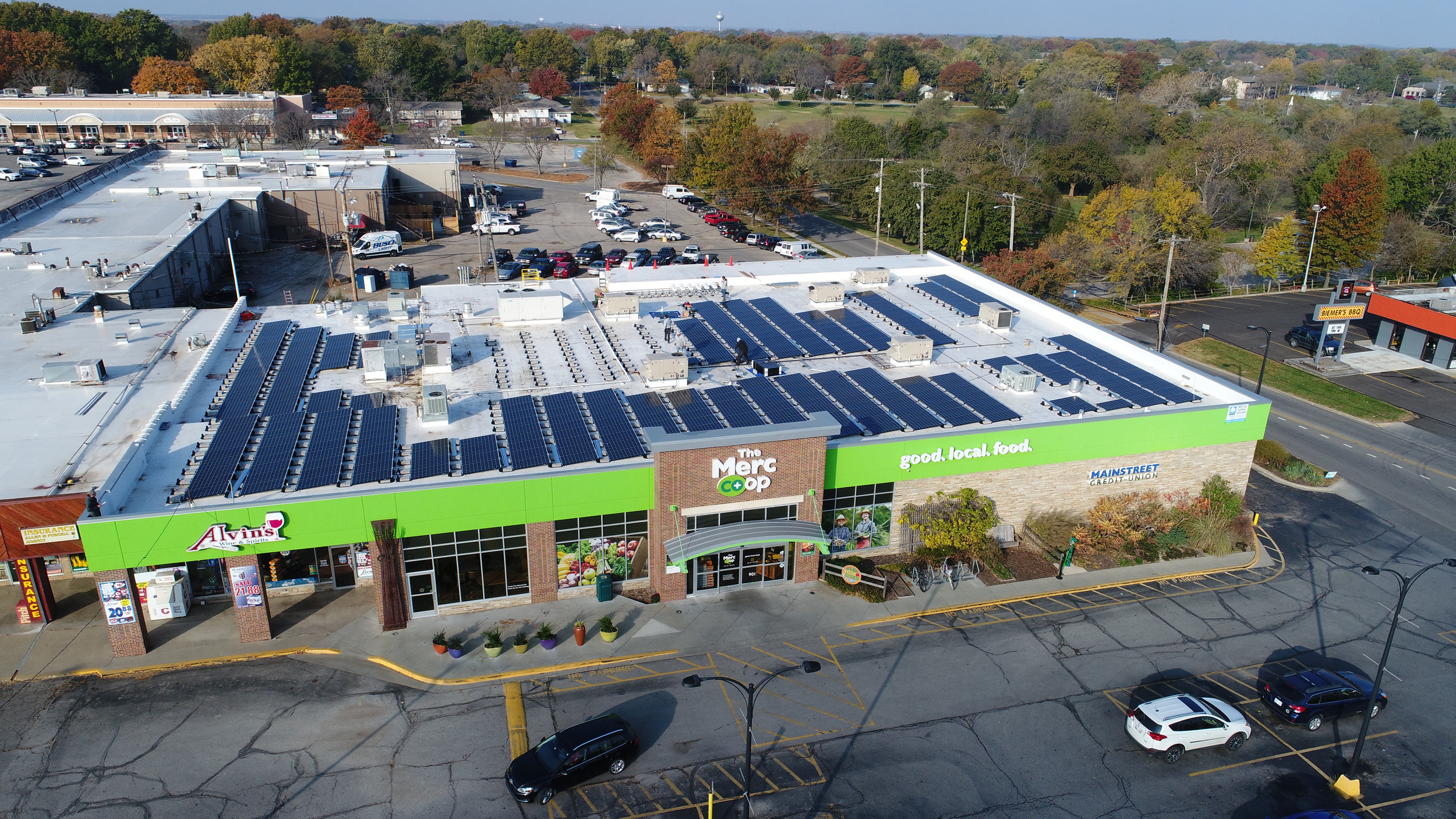 As of March 28, the 384 rooftop solar panels began generating power for approximately 17% of the co-op's energy needs. When all 688 solar panels are generating power, the co-op will generate 29% of it's total energy use from the sun.