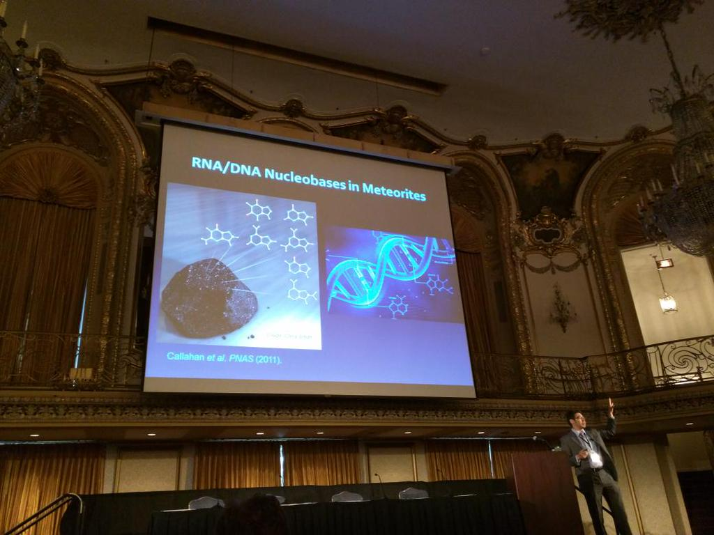 Mike giving a talk at one of the Special Plenary Sessions at the Astrobiology Science Conference, 2015 (Chicago, IL, June 15, 2015). This is also the same ballroom where Dr. Richard Kimble confronted Dr. Charles Nichols in  The Fugitive .  Photo Credit: Peter Angus Medlock