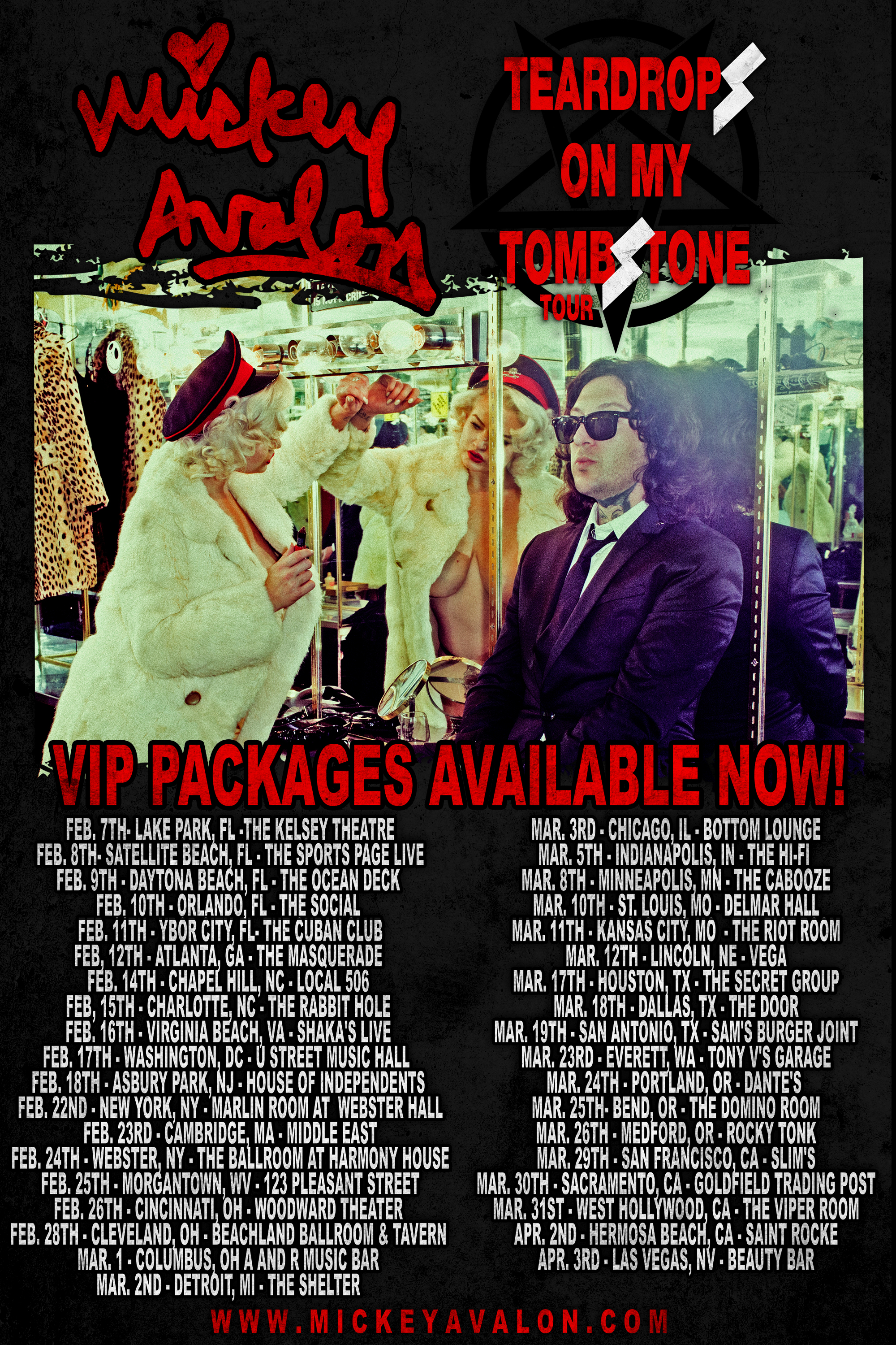 Head over to the store to check out the VIP packages for the Teardrops On My Tombstone Tour!!