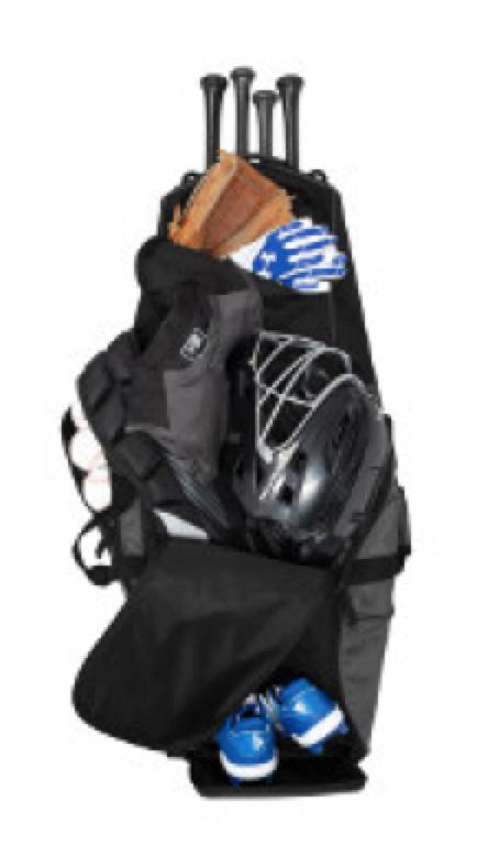 New Era® Shutout Wheeled Bat Bag retails for $118.00 plus decoration.