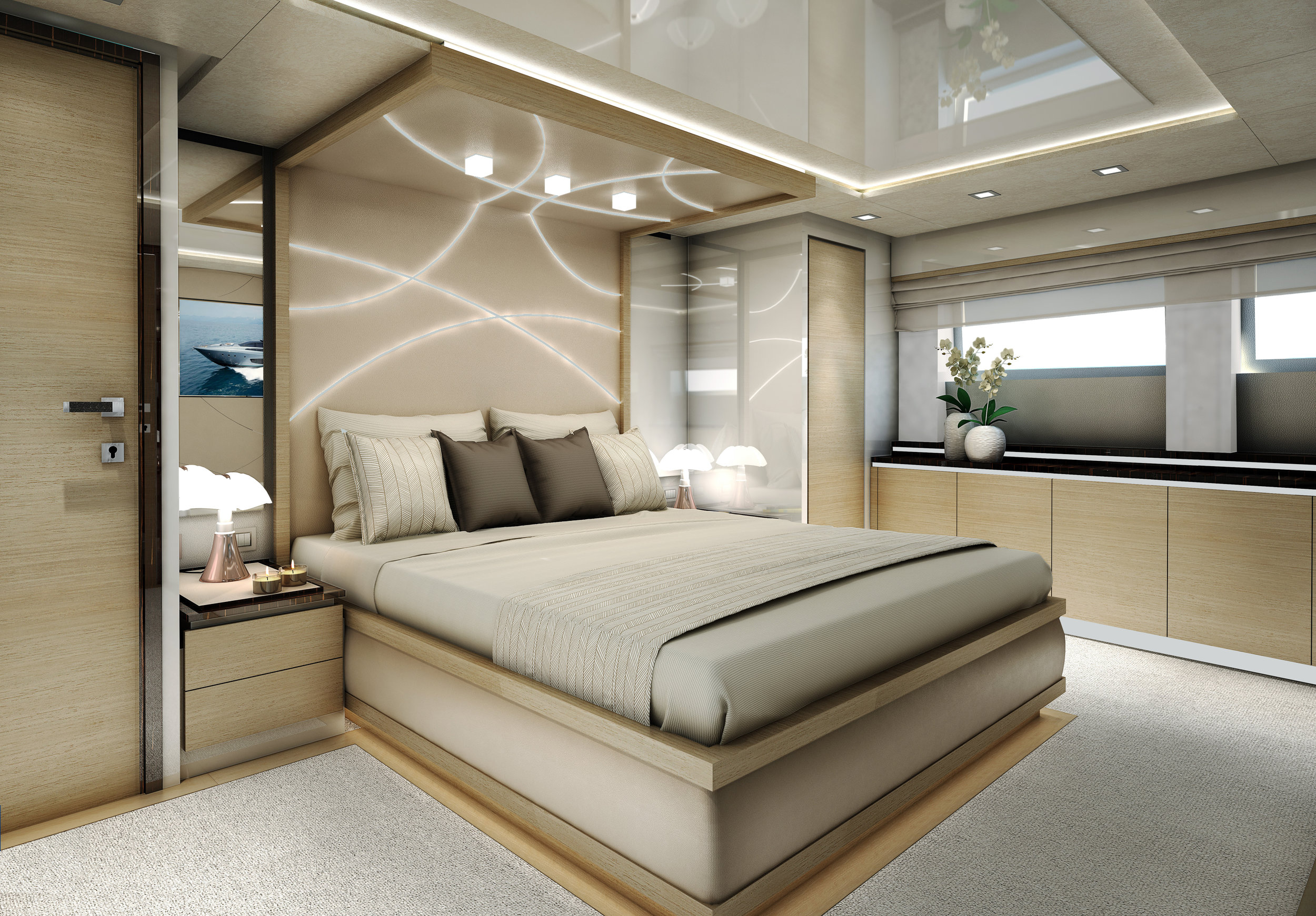 M/Y Z One 116' - master cabin proposal
