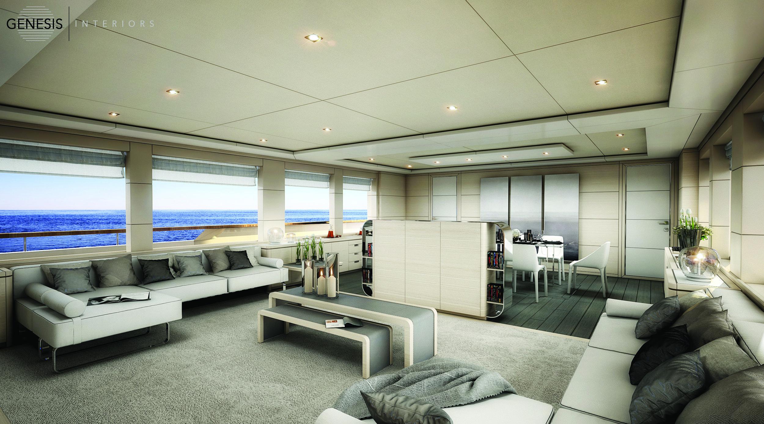 M/Y Arcana 112' - main salon proposal
