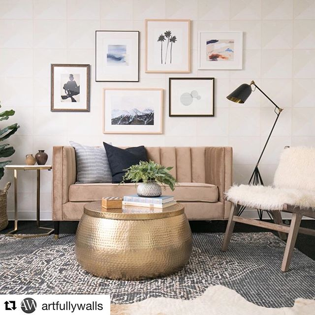 #Repost @artfullywalls with @get_repost ・・・ We're excited to have collaborated with @decoristofficial and their elite designer @stefanisteinla, to help achieve these gorgeous laid back eclectic vibes at @shaymitchell's Amora & Vita offices.  Furniture by @worldmarket Photo by @carlachoyphoto  Art included clockwise from top: Three Palms by Jan Weiss, Pieces of Time by Karina Bania, Seperate by Eda Oslu, Pink Sky and Mountains in the Morning by Lucy Snowe, Nude 2616 by Michael Lentz, Broad Strokes 4 by Meredith Aitken