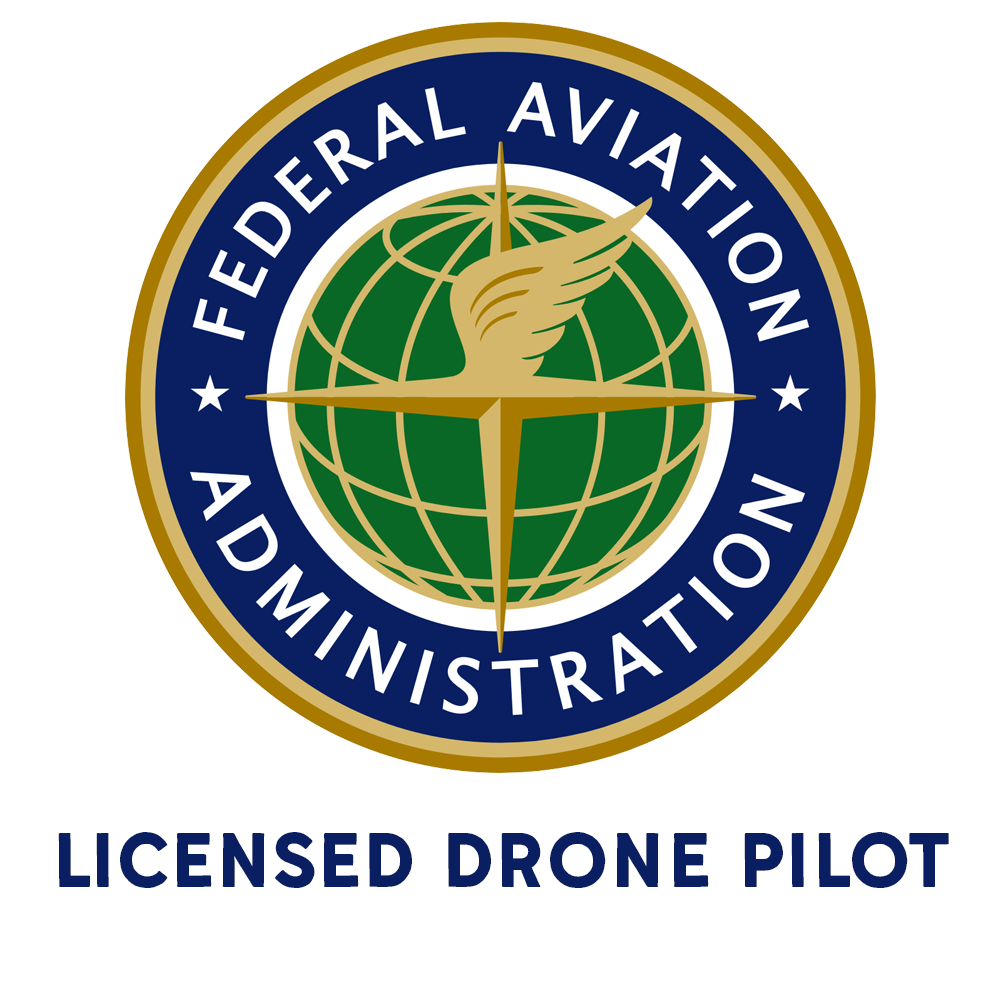 Brindle Creative is licensed by the FAA to operate drones for commercial videography purposes.