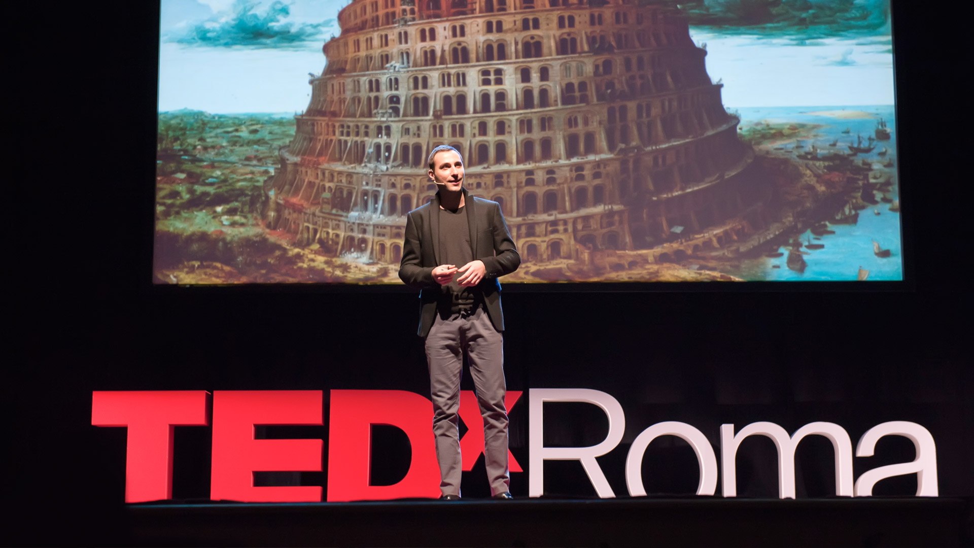 Paolo Petrocelli giving a TED Talk in Rome