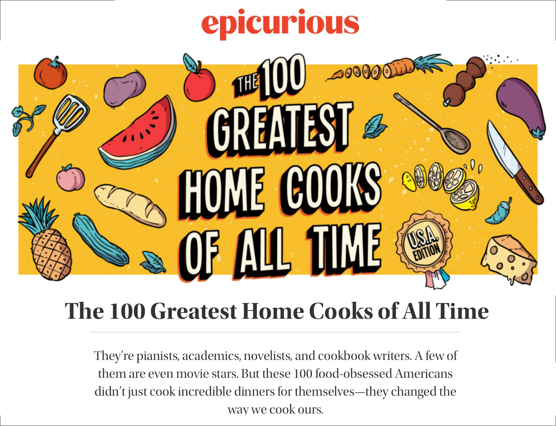 100 Greatest Home Cooks