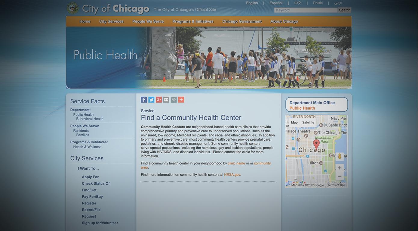 CITY OF CHICAGO,PUBLIC HEALTH -
