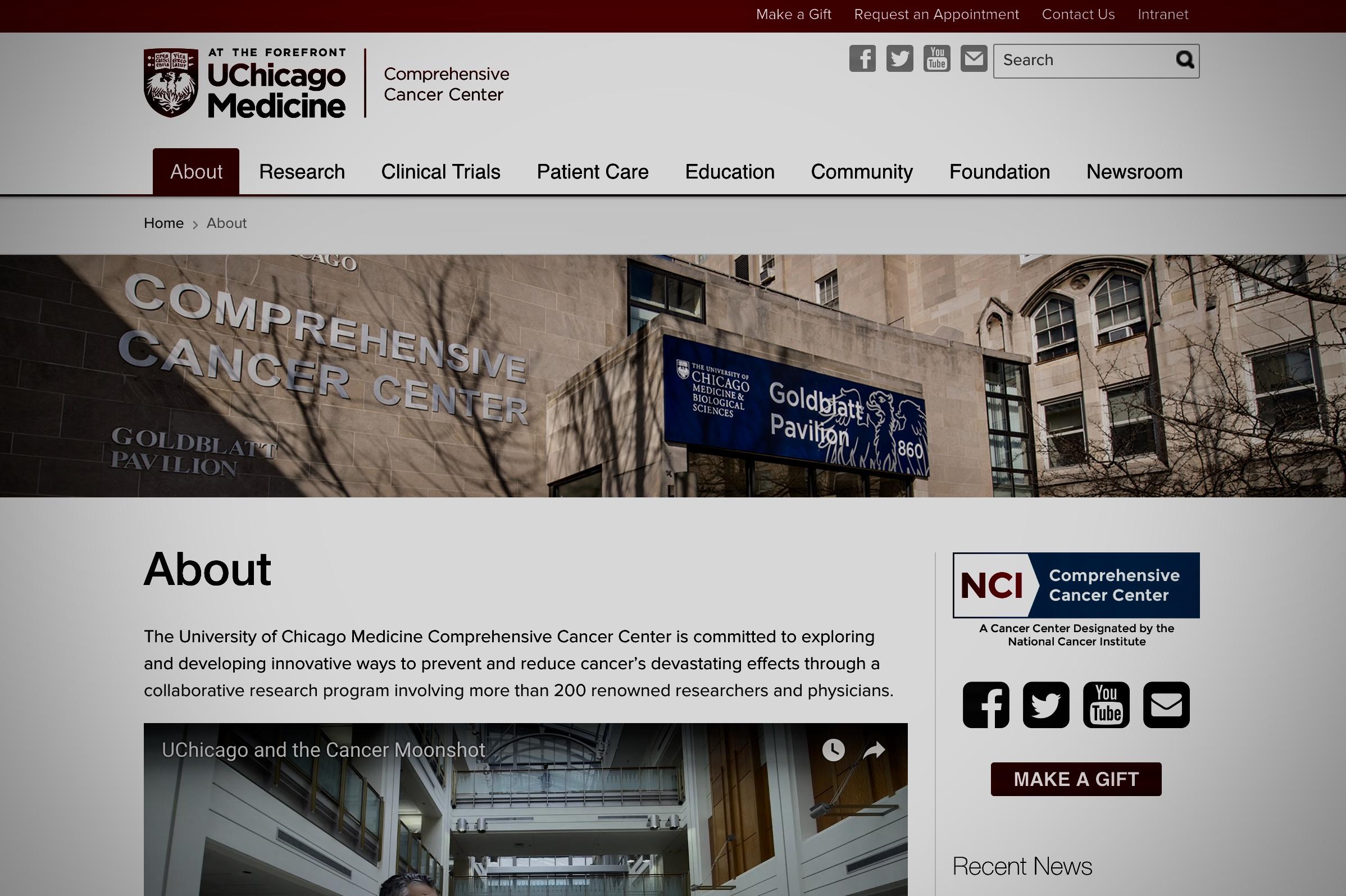 university of chicago comprehensive cancer center -