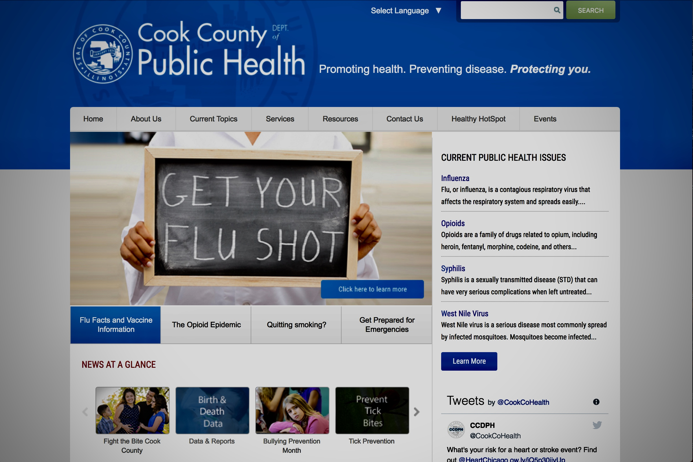 cook county dept. of public health -