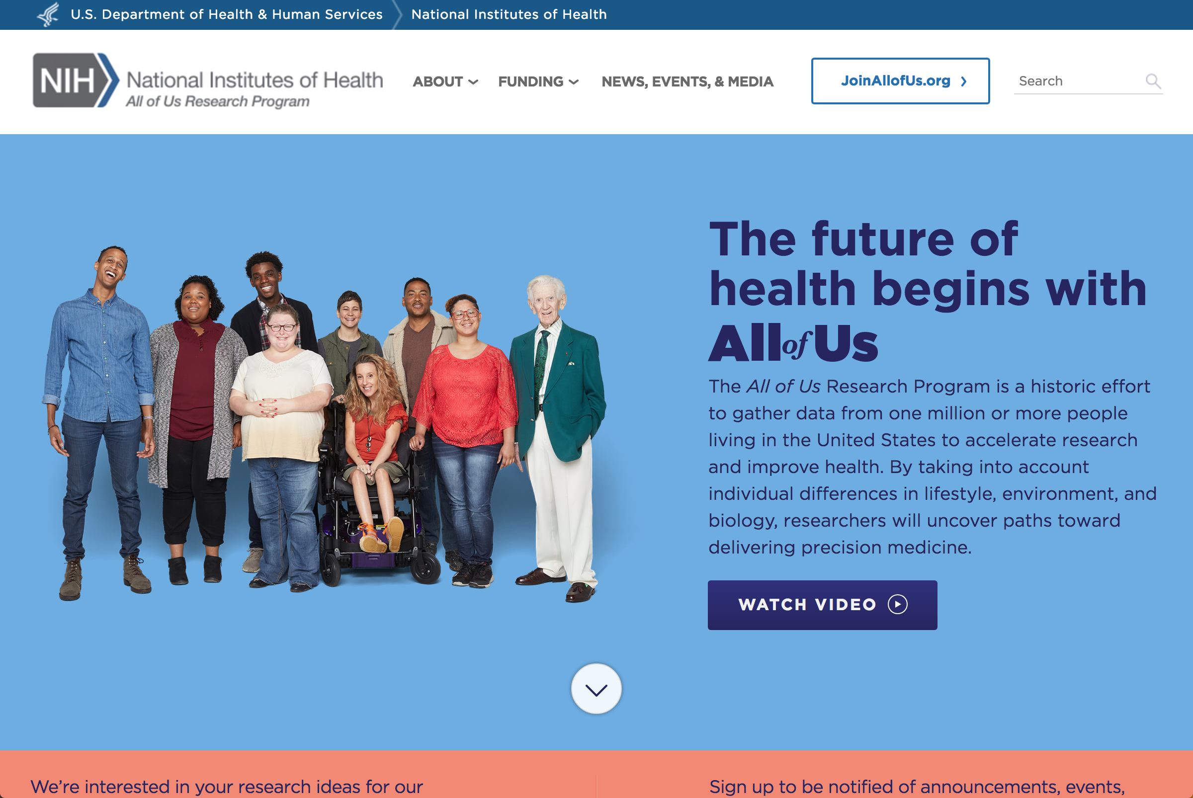 National Institute of health - all of us -