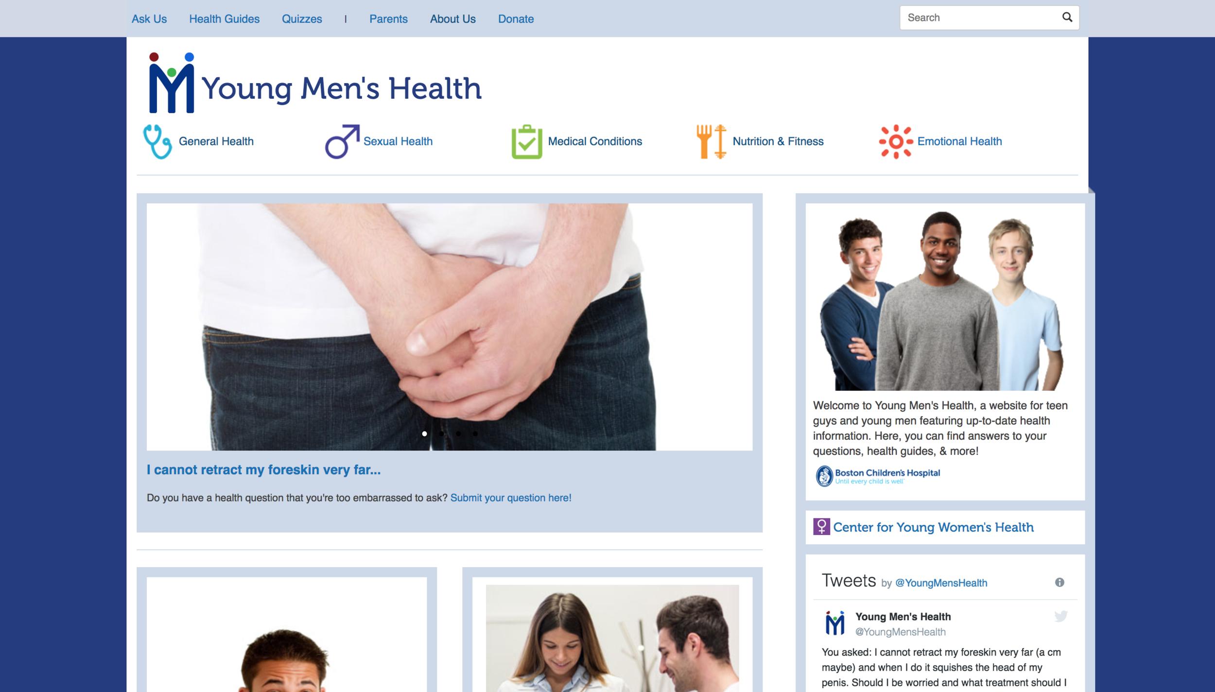 Young Men's Health -