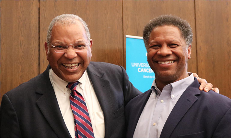 Dr. Otis Brawley and Dr. Robert Winn. Photo by UIC.