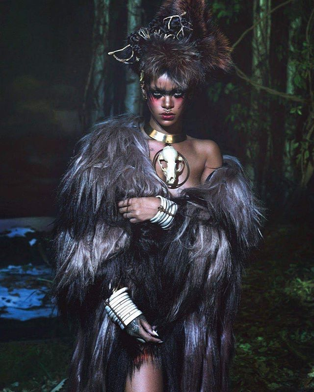 the night is dark and full of terrors • • • 📸: the jasmine brand @badgalriri