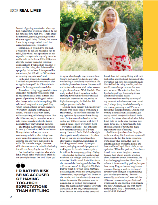 in the july 25, 2017 issue of grazia uk magazine