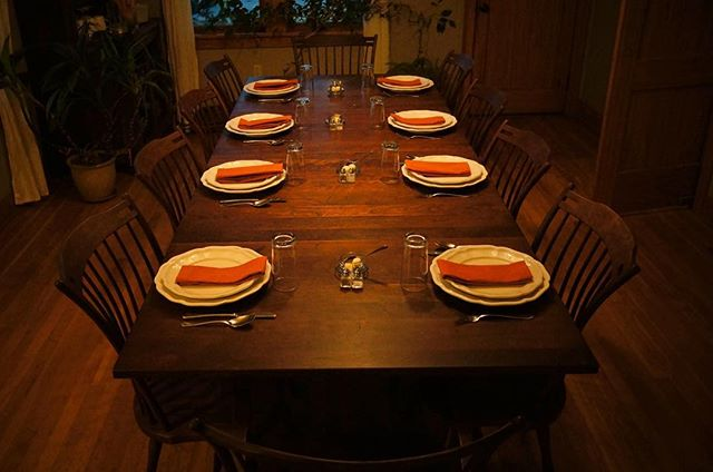 Proudly serving the highest quality, locally sourced and home grown cuisine. Who wouldn't want to dine at this handmade beautiful table?  #hoodriver #traveloregon #exploregon #sevenoaksbb