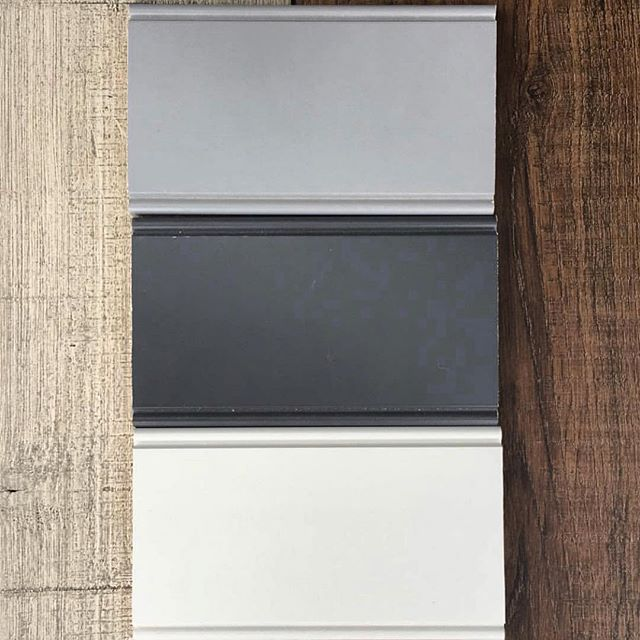 Decisions... help my new client decide... light gray, dark gray or white? I'll be incorporating wood shelving, shhh she doesn't know yet, in one of these colors as well.  #youdecide #kitchendesign #kitchenpole #interiordesign #instagramhelp #kitchentrends #graycabinets #whitecabinets #shakercabinets #woodshelves #askthefans #designer #newconstruction #renovation #alexandriava
