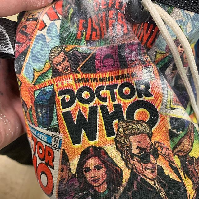 Pretty stoked about this impulse buy. #thedoctor #chalkbag #rockgym